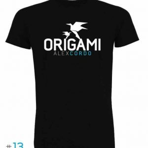 photo tee-shirt Origami noir