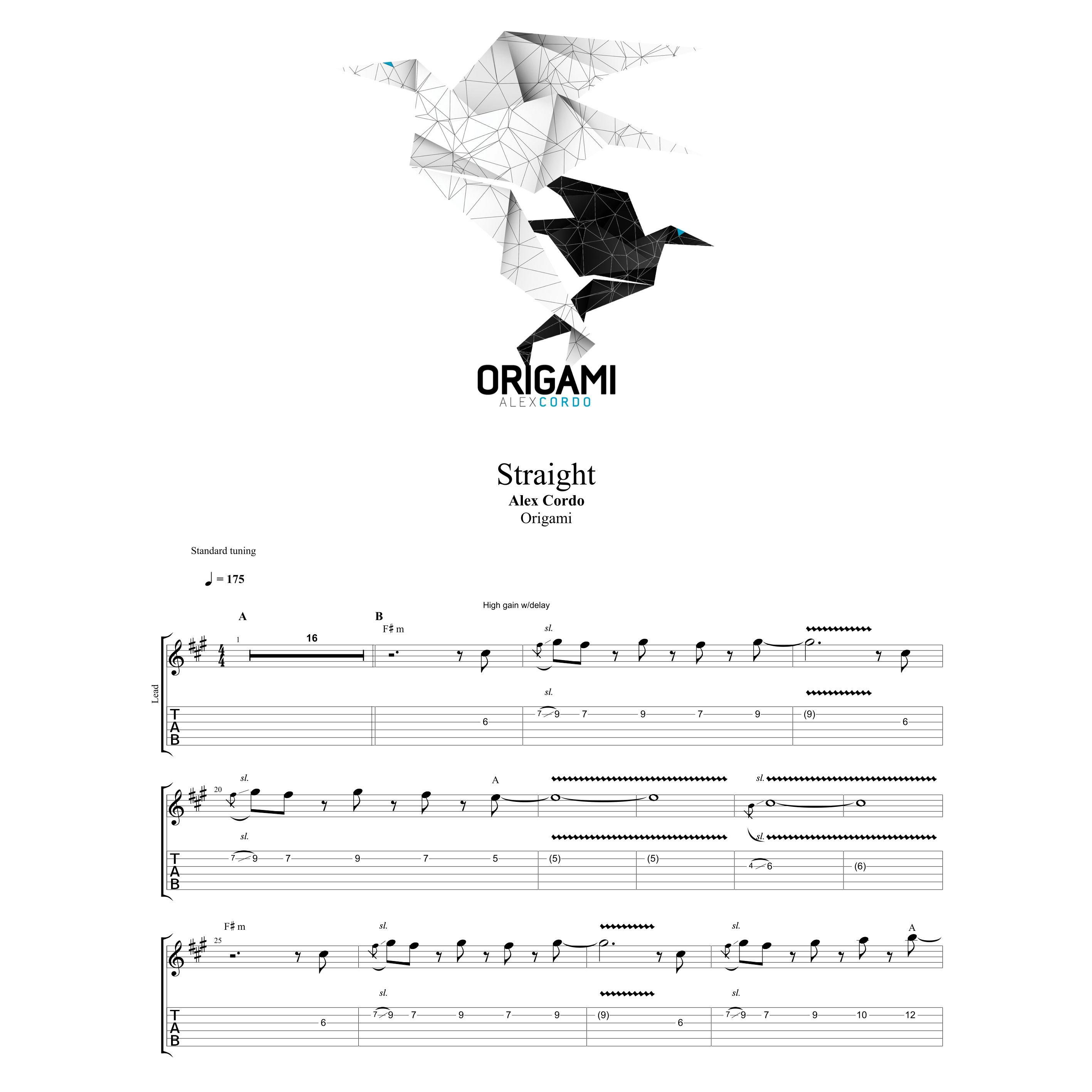 Score + Backing track – Origami – 1 track